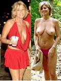 Femme nue en public